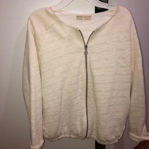 White Zara bomber jacket